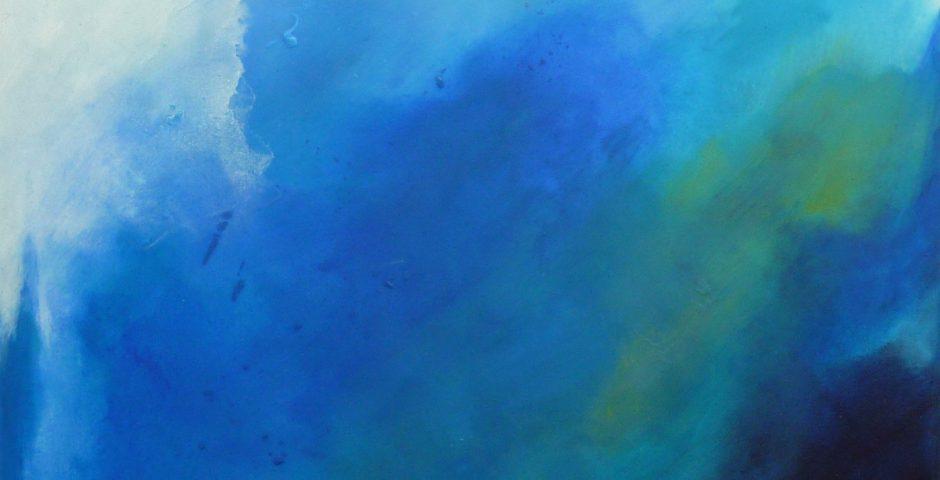 Spiel mit der Farbe Blau